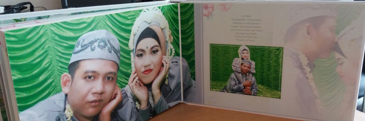 Album Kolase Wedding Putus Ukuran 20x30