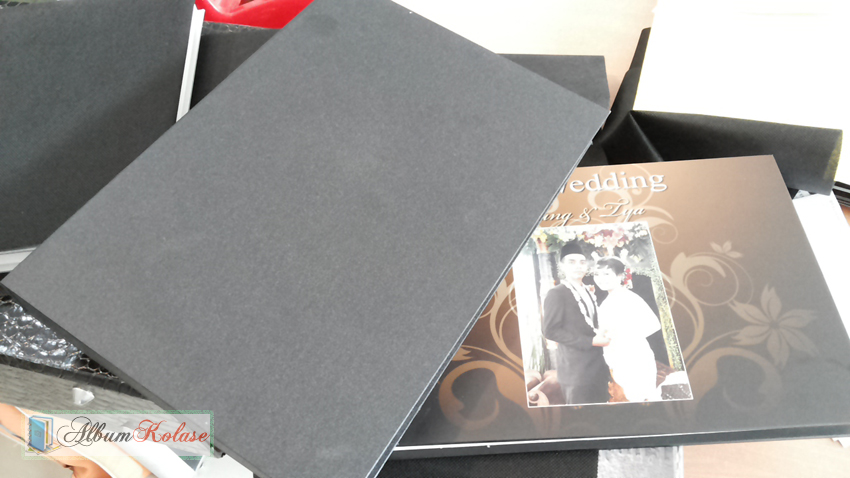 Contoh Cover Box Album Kolase Standar Box Hitam vinyl