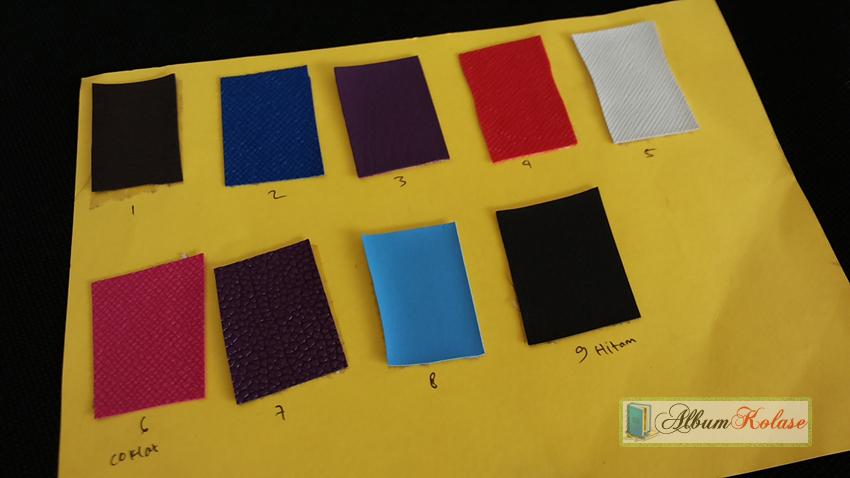 Jenis Pilihan Warna Cover Album Kolase