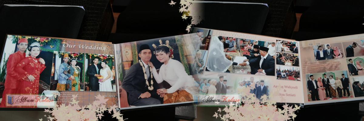 Contoh Desain Dalam Album Kolase Wedding Pernikahan 01
