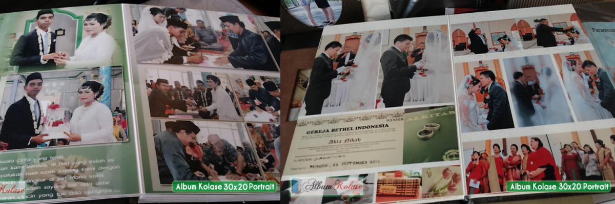 Contoh Ukuran Foto Album Kolase 20x30 dan Ukuran 25x30 01