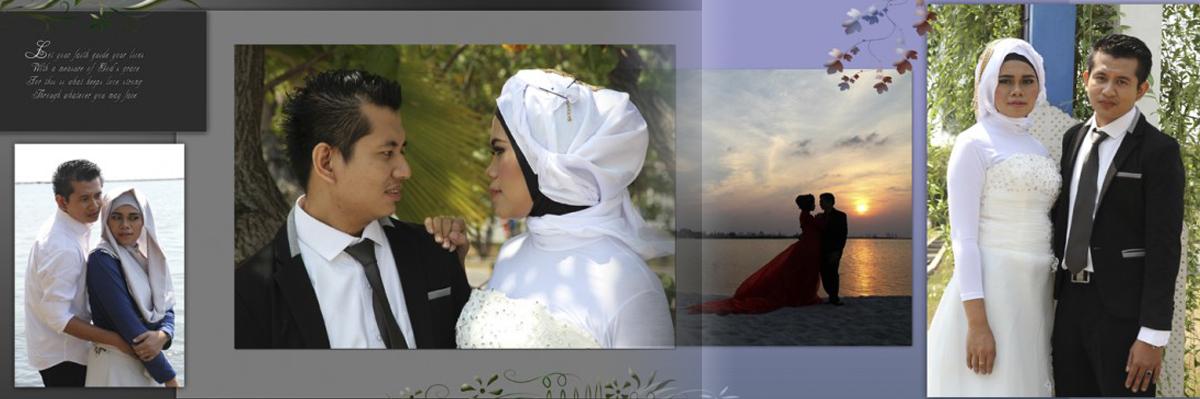 Desain Album Kolase Pra-nikah (Pre-wedding) 01