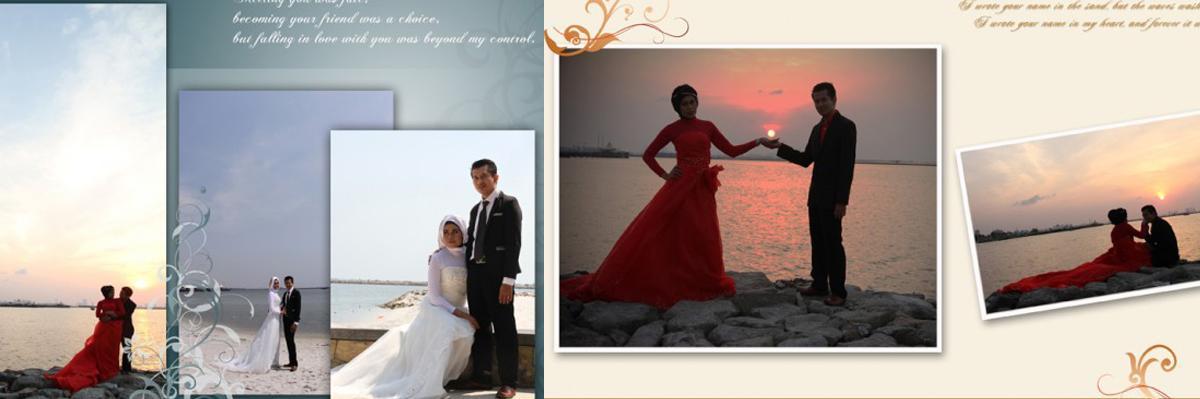 Desain Album Kolase Pra-nikah (Pre-wedding) 02