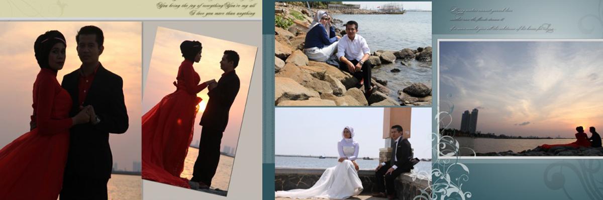 Desain Album Kolase Pra-nikah (Pre-wedding) 03
