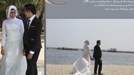 Desain Album Kolase Pra-nikah (Pre-wedding)