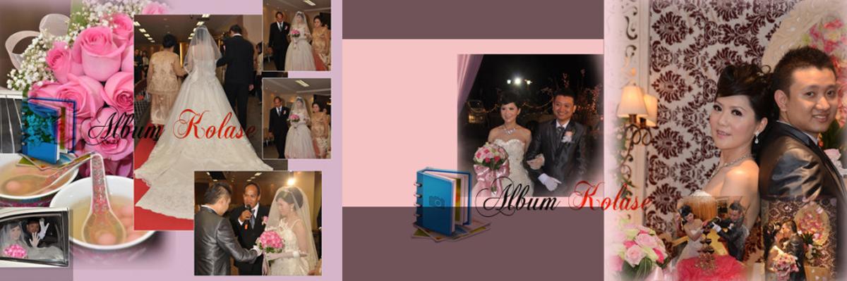 Foto Album Kolase Pernikahan (Wedding) Minimalis 01