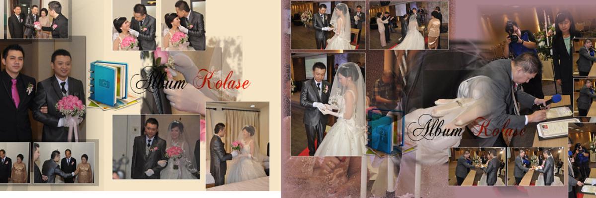 Foto Album Kolase Pernikahan (Wedding) Minimalis 02