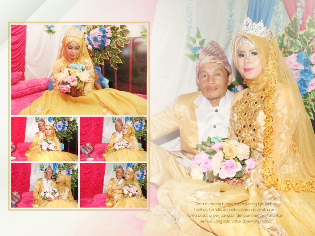 Contoh Album Kolase Wedding Portrait