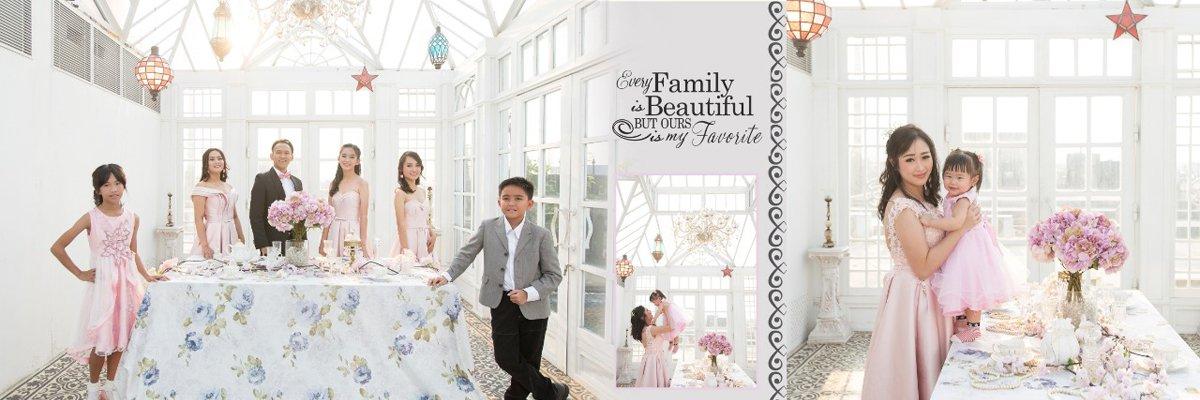 Desain dan Cetak Album Kolase Happy Family